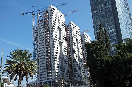 פרויקט הבנייה החדשה בשרונה דרום הקריה בנייה בתל אביב גינדי, צילום: דוד הכהן