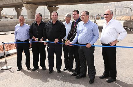 פתיחת כביש החיבור בין מנהרות הכרמל לעוקף קריות ישראל כץ יונה יהב, צילום: אירוע בקליק