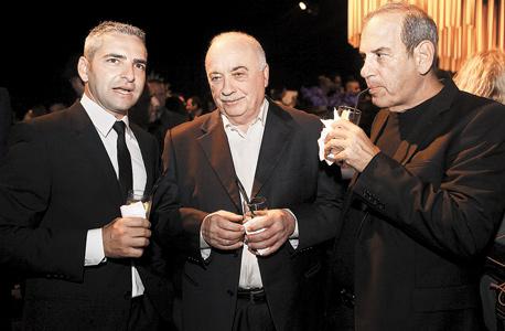 משמאל: מנור גינדי, אליעזר פישמן ושמואל פרנקל