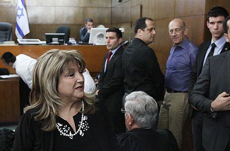 שולה זקן אהוד אולמרט בית משפט הכרעה פרשת הולילנד, צילום: עידו ארז, ynet