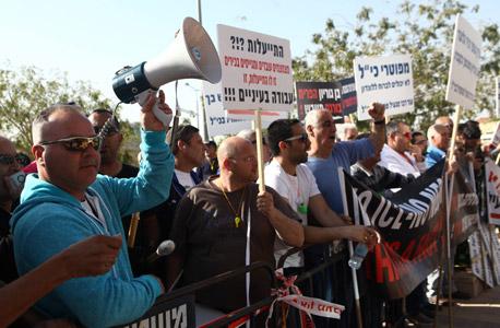 הפגנה נגד פיטורים, עובדי כיל, צילום: אוראל כהן