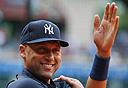 דרק ג'יטר שחקן בייסבול ניו יורק יאנקיז, צילום: איי אף פי