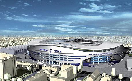 הדמיה של האיצטדיון החדש של טוטנהאם