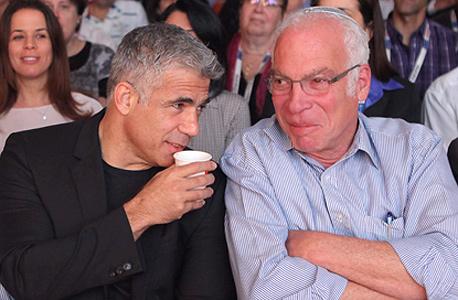 יאיר לפיד ו אורי אריאל, צילום: עמית שעל