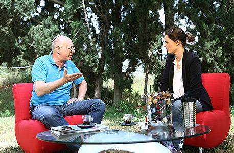 מיכל רביב סמנכל שיווק AIG ו אבי כץ מנכל קופיקס, צילום: אוראל כהן
