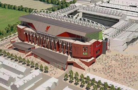 """הדמיית אנפילד החדש. האצטדיון שתוכנן עלה למועדון 50 מיליון ליש""""ט"""