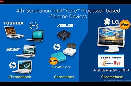 אינטל כרומבוק chrome OS