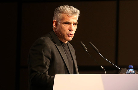 וידאו הוועידה לעסקים קטנים ובינוניים יאיר לפיד, צילום: נמרוד גליקמן
