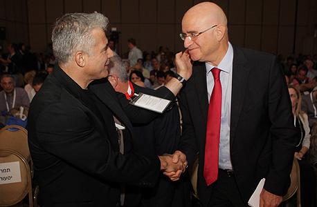 הוועידה לעסקים קטנים ובינוניים יאיר לפיד אבישי ברוורמן, צילום: אוראל כהן