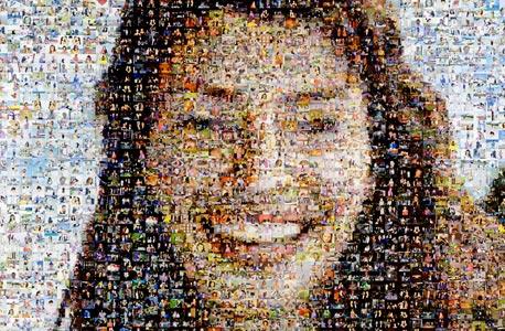 פוסטר המורכב מאלפי תמונותיה של אנדה זימנד