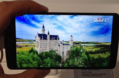 ברושם ראשוני, תצוגת ה-Quad HD של המכשיר מאוד מרשימה, עם צבעים חזקים ותמונה חדה ומושכת, צילום: עומר כביר