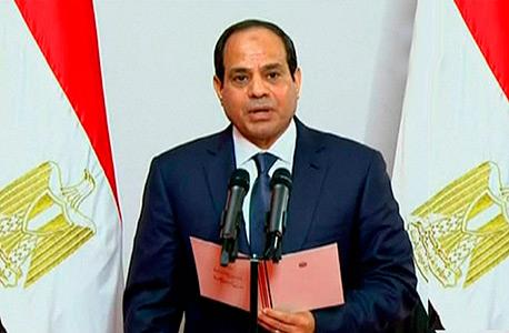 נשיא מצרים החדש עבד אל פתאח א סיסי בטקס ההשבעה, צילום: רויטרס