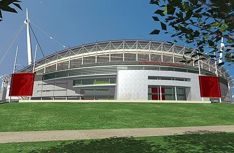 הדמיית האצטדיון החדש בליברפול. וויתרו עליו, צילום: בלומברג