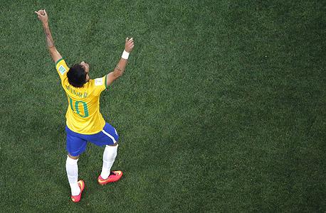 ניימאר חלוץ נבחרת ברזיל מונדיאל 2014, צילום: איי אף פי