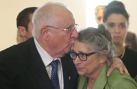 ראובן ריבלין ורעייתו נחמה במשכן הכנסת, היום, צילום: אלכס קולומויסקי