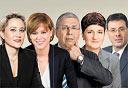 """מנכ""""לי הבנקים הגדולים: אלדד פרשר, סמדר ברבר צדיק, ציון קינן, רקפת רוסק עמינח ולילך אשר טופילסקי, צילום: אבשלום ששוני, דן לב, סיון פרג' רון קדמי"""