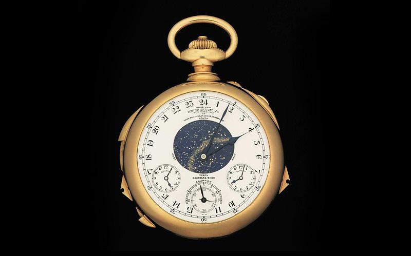 שעון הכיס Supercomplication של פטק פיליפ, 11 מיליון דולר. שעון זה כשמו כן הוא – שעון כיס מורכב העשוי זהב שעוצב בידי פטה פיליפ. השעון כולל 24 פונקציות והיה בתצוגה במוזיאון הזמן בשיקגו בטרם נמכר לקונה אנונימי תמורת סכום שיא