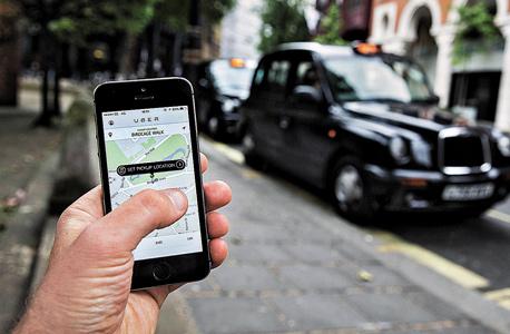 אפליקציית Uber יובר, צילום: אימג'בנק, Gettyimages