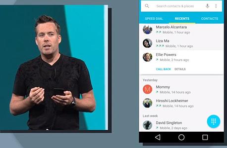 אנדרואיד L מוצגת באירוע המפתחים של גוגל