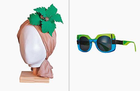 מימין: משקפיים של טאו, 2,590 שקל, בוורובל אופטיק בוטיק; משמאל:  טורבן בעיצוב תמי בר־לב, 1,780 שקל, בסטודיו המעצבת, 054-5549131