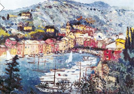 """השראה: """"המפרץ הקטן של פורטופינו"""", מישל קאסטלה, המאה ה-20, צילום: אימג"""