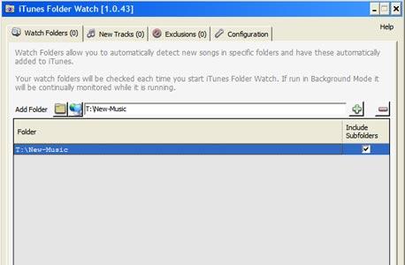 הגדרת תיקיות מוסיקה לעדכון אוטומטי באמצעות iTunes Folder Watch