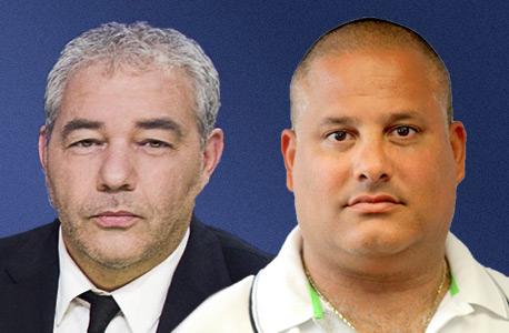 מימין: אלון חסן ורונאל פישר. חסן הגיע עם מזוודה ובה 100 אלף שקל