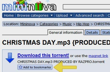 , צילום מסך: mininova.org