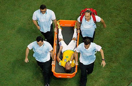 פציעה ניימאר נבחרת ברזיל מונדיאל 2014, צילום: רויטרס
