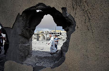 מבנה בעזה שנפגע בהפצצת חיל האוויר