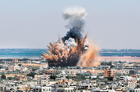 מרכז העיר עזה אחרי הפצצה של חיל האוויר הישראלי