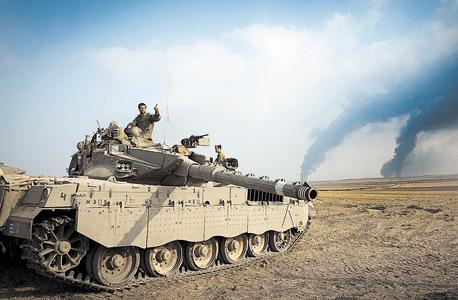 """טנק של צה""""ל מול רצועת עזה. """"לא רואה שינוי אסטרטגי"""""""