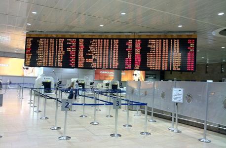 נמל התעופה בן גוריון ביטולי טיסות, צילום: אסף אשור