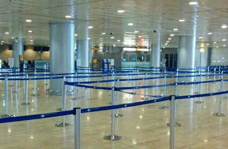 """נמל תעופה בן גוריון נתב""""ג שדה תעופה הפסקת טיסות, צילום: טל אלטבך"""