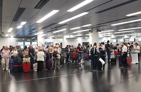 ישראלים תקועים הערב בשדה התעופה בווינה, צילום: תומר הדר