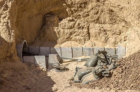 מבצע צוק איתן מנהרות של חמאס, צילום: איי אף פי