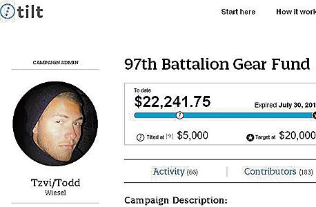 """חייל צה""""ל גייס יותר מ־22 אלף דולר ליחידה שלו במימון המונים"""
