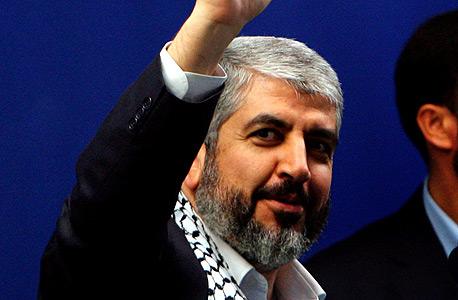 """יו""""ר הלשכה המדינית של חמאס חאלד משעל. מכיר בזכותו של אבו מאזן לנהל משא ומתן עם ישראל"""