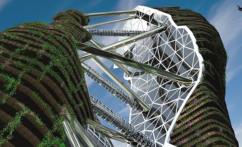 הדמיית המגדל. מאמץ למזג בין מרחבים חקלאיים וסביבה אורבאנית