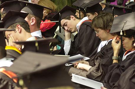 """טקס סיום בפרינסטון. """"סטודנטית אמרה לי 'החלטתי בגיל 12 שאתקבל להרווארד'. אבל בגיל 12 אתה לא מסוגל להחליט עבור עצמך"""""""