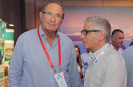 """אמיר חייק מנכ""""ל התאחדות התעשיינים ואיש העסקים דן פרופר, צילום: אוראל כהן"""