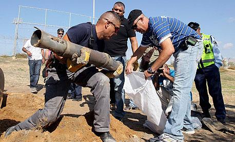 שברי רקטת גראד שנפלה בשטח ישראל