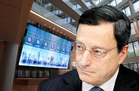 """יו""""ר הבנק המרכזי האירופי מריו דראגי. הקלה כמותית בדרך?, צילום: אוראל כהן, בלומברג"""