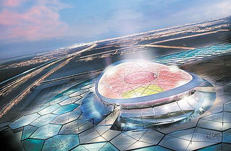 הדמיית אצטדיון בקטאר. יבנו אותו עובדים מצפון קוריאה