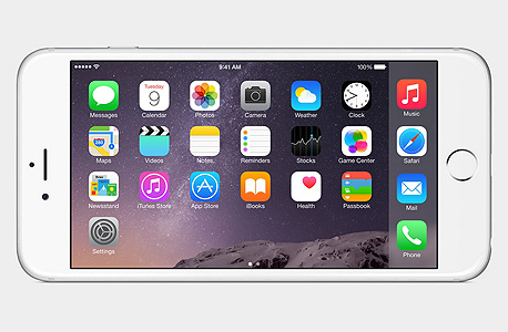 תצוגת האייפון 6 פלוס