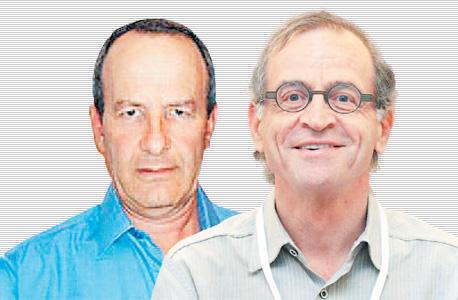 """עו""""ד יואב בן דרור (מימין) ומיכאל שרן. ניהלו יחסים קרובים ביותר עם האלמנה הכט"""