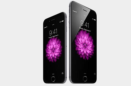 אייפון 6 פלוס (מימין) ואייפון 6