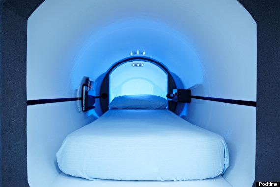 מזרוני המיטות בקפסולה עשויות ספוג ויסקו-אלסטי