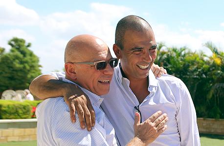 חתונה עופר עיני מימין חיים רביבו אלי עזור, צילום: אוראל כהן