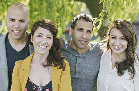 מייסדי האניבוק, משמאל: עוז אלון, נעמה אלון, דרור שמעוני ושאדיה סיגלה